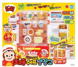 Zeus Toys Coco Mong Melody Light Chef Refrigerator with Drinks Kitchen Roleplay image 4