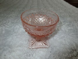 Vtg. 1930's Anchor Hocking Pink Miss America Depression Glass Footed Sherbet - $7.95
