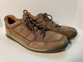 Clarks Brown Suede Low Top Lace Up Sneaker Size 9.5 - $38.69
