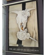 Georgia O'keefe Skull Flowers Roses Poster 25 x 39 Art Institute Chicago... - $123.84