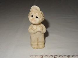 2001 Quarry Kids Resin Figurine Billy All Boy Slingshot Hat Overall Child  - $5.99