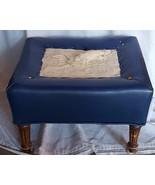 Beautiful Vintage Imitation Leather Covered Ottoman - VGC - NEEDS FINISHING - $69.29