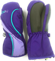 HEAD Jr Sweet Purple Vistula Blue Girls Insulated Ski Mittens Winter Gloves NWT image 2