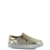 Girl's gold Rilo leather slip-on sneaker  - $38.98