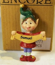 Christmas Ornaments WHOLESALE- Russ BERRIE- #13777- 'SAMUEL'- (6) - New -W74 - $5.83
