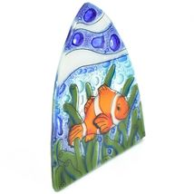 Fused Art Glass Clown Fish Ocean Marine Nightlight Night Light Handmade Ecuador image 6