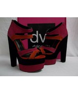 DV8 Dolce Vita Size 8.5 M Prima Hot Pink Suede Open Toe Heels New Womens... - $67.05