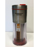 Starbucks 2009  Red VIA Ready Brew Stainless Steel Travel Tumbler Mug 10 oz  - $15.19