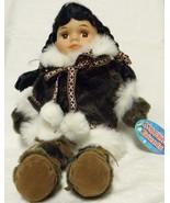 Alaskan Friends Traditional Alaskan Eskimo Doll with Dark Fur Parka 13 in. - $29.68