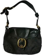 Coach black leather shoulder bag purse designer F0773-11443 - $29.69