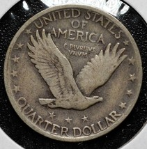 1920 Standing Liberty Silver 25¢ Quarter Coin Lot A 617 image 2