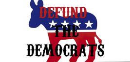 Defund The Democrats Donkey White Vinyl Decal Bumper Sticker - $5.55
