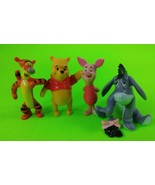 Disney Winnie the Pooh Tigger Eeyore Piglet Collectible Figurine Cake To... - $14.50