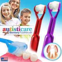 2-PK | Autisticare 3-Sided Toothbrush | Clinically Proven | Special Needs Autism - $9.95