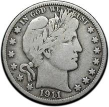1911 Silver Barber Half Dollar Coin Lot A 351