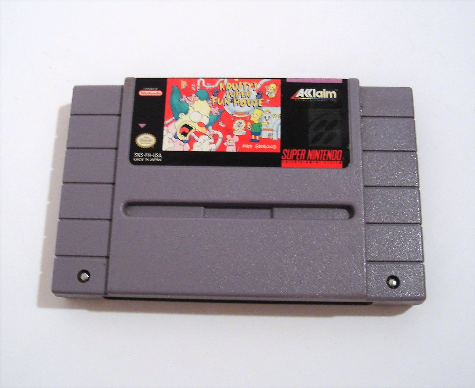 Primary image for Krusty's Super Fun House (Super Nintendo Entertainment System, 1992) SNES