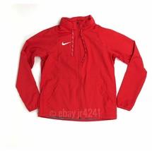 Nike Women's M Dry Jacket Red Full-Zip Stow Away Hood Training Red 897173 - $36.04