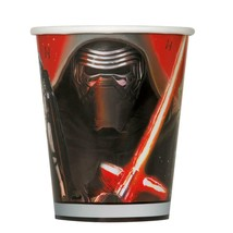 Star Wars The Force Awakens 9 oz Paper Cups 8 Ct Birthday Party Supplies Unique - $2.56