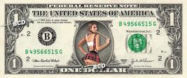 Sexy School Girl on a REAL Dollar Bill Bachelor Party Cash Money Collect... - $4.50