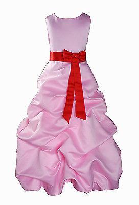 Per Bambina Da Festa Damigella Vestito Per Spettacolo 1-13 Y Rosa+Fascia image 9