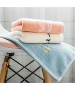 100% Cotton Towel Funny English Letter Embroidered Soft Absorbent Hand T... - $4.22
