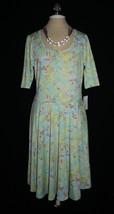 Gorgeous Nwt Lularoe Nicole Geometric Pastel Fit & Flare Dress Xlarge Xl 18 20 - $20.00