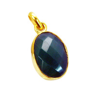 cute Green Onyx Gold Plated Green Pendant Fashion gemstones US - $5.63