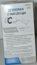 Sigma 630802 Weatherproof Metal LED Light 10 Watts 800 Lumens White image 7