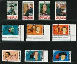 GRENADA 1975 VF NH Stamps Scott # B28-33 C29-32  Amerecan Revol.Bicen. - $1.50