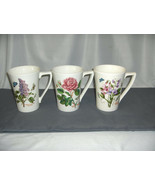 3 Vintage Portmeirion Large Mandarin Mugs Flowers Butterfly Lilac + 2  NICE - $64.35
