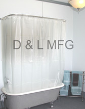 Extra-Large-Clawfoot-Shower-Curtain-Opaque-with-Magnets/CO - $39.97
