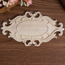 Floral Carved Decal Woodcarving Corner Applique Furniture Wooden Wall De... - $20.00