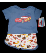 BOYS 3-6 MONTHS Disney Pixar Cars Lightning McQueen Blue 2-Pc PLAYSET - $5.99