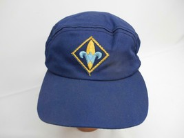 Old Vtg Boy Scouts Of America Baseball Cap Hat Embroidered Patch - $19.79
