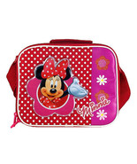 MINNIE MOUSE-INSULATED LUNCHBOX. Includes a box of 25 snack bags. - $20.42