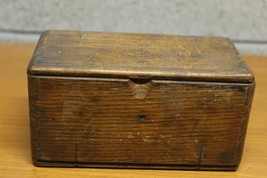 Antique Folding Wooden Box with Sewing Machine Parts Singer? - $49.50