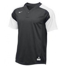 Nike Vapor Laser Baseball Short Sleeve Jersey Boy's Medium Gray White 81... - $22.76