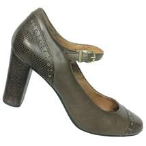 Clarks Indigo Womens Brown Leather Lizard Print Mary Jane Pumps Size 8 M - $39.60