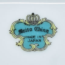 Meito China Blue Yellow & Pink Flower Gold Accent Oval Serving Platter image 7
