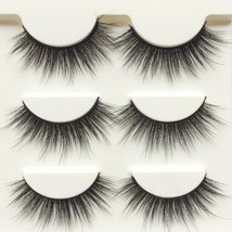 Wehous 3 Pairs Luxurious Super Long 3D Natural Cross Thick False Eyelash... - $27.00