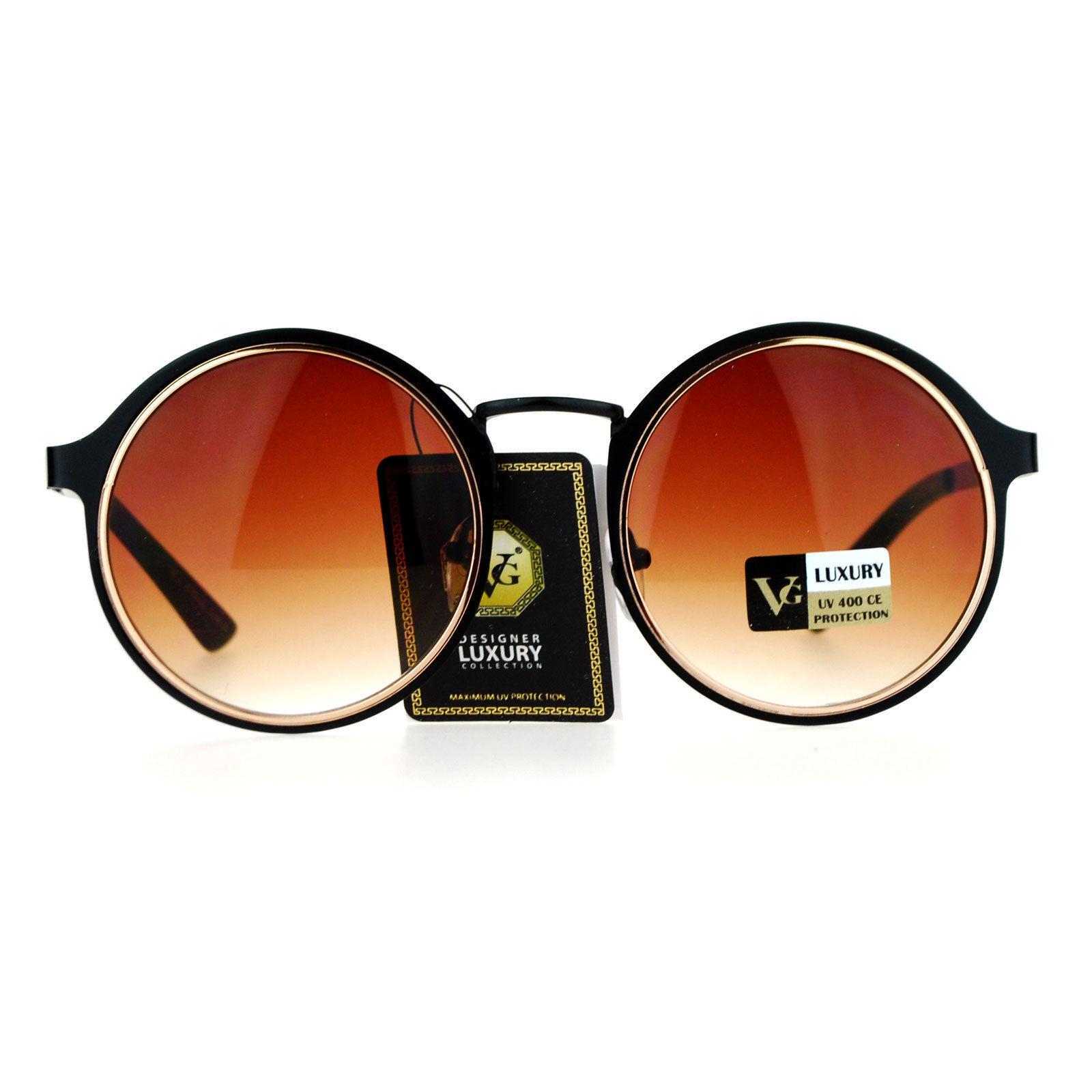 Womens Fashion Sunglasses Round Layered Circle Metal Frame UV 400