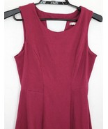 Lauren Conrad Womens Size 10 Burgundy Sleeveless Fit Flare Stretch Dress - $25.96