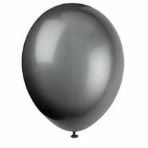 "Phantom Black Latex Round Premium Balloons 12"" 50 Ct Helium Quality - $7.61"
