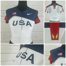 Nike Olympic 2000 USA Track & Field Jersey Large Built In Womens Sports Bra - $40.50