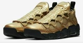 NIKE Air More Money Men's Shoes AJ2998 700 MSRP $160 Metallic Gold sz 10... - $63.97