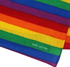 "12 Pack Gradient Rainbow Cotton Head Wrap Scarf Bandana Ombre Colors 22"" X 22"" image 13"