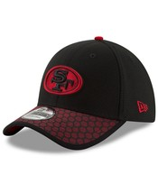 New Era San Francisco 49ers 3930 On Field Sideline Fitted Hat Black/Red Size M/L - $31.99