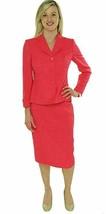 Evan Picone Costume Jupe Sz 14 Géranium Rose Ville Chic Soirée Affaires ... - $78.67