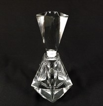 """Beautiful Faceted Crystal Perfume Bottle & Stopper 6 1/4"""" Tall Crystal C... - $19.95"""