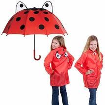 Genesis21 Ladybug Kids Rainy Day Umbrella with Children's Lady Bug Raincoat - $21.98
